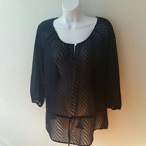 The Limited Sheer Blouse Burnout S